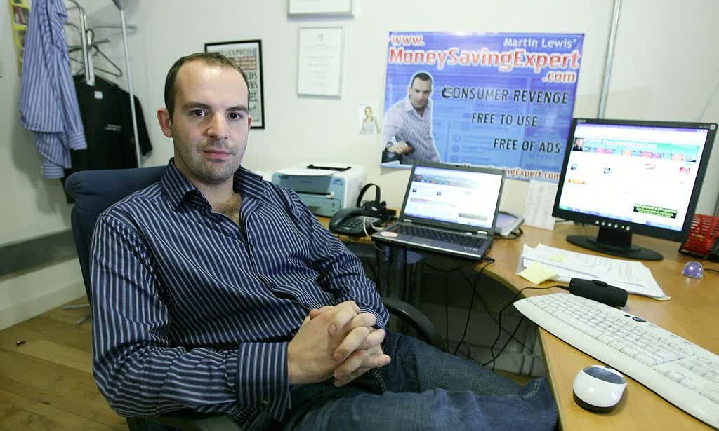 Martin Lewis in the office