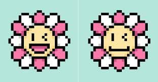 pixel nft flowers