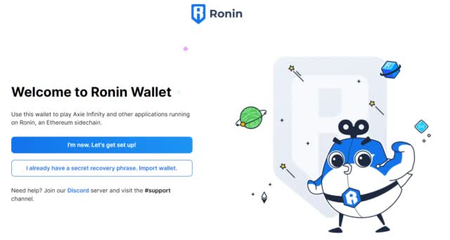 The Ronin Wallet is a must if you wanna start playing